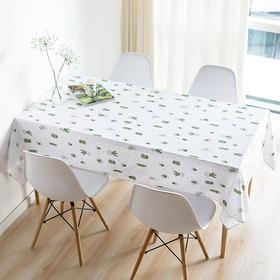 Spring 万物·仙人掌波点防水桌布