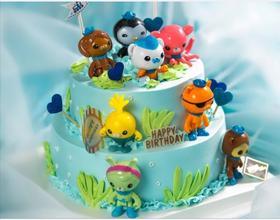 海底小纵队主题主题蛋糕(10寸+8寸)