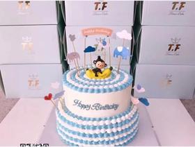 宝宝1周岁主题蛋糕(10+8寸)