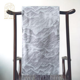 艺术礼品仇德树《山海之盟》羊绒围巾 男女冬季艺术长款百保暖