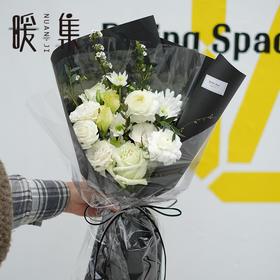 【拓白】白玫瑰洋牡丹小手球鲜花花束