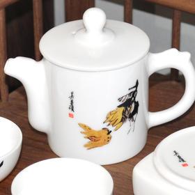 吴昌硕旅行茶具 +白牡丹茶饼
