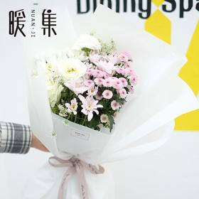 【微语】紫小菊洋牡丹鲜花花束