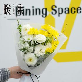 【浅笑】黄小菊洋牡丹黄绿色系鲜花花束