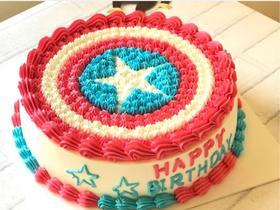 美国队长盾片蛋糕