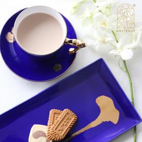 艺术礼品陈小丹 《盛开》 咖啡杯碟下午茶长盘咖啡具套装骨瓷艺术衍生品