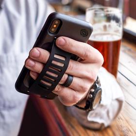 苹果iPhone X防摔带指环扣手机壳