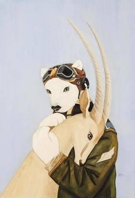 青年艺术家胡扬 | 签名限量版画《耳语》