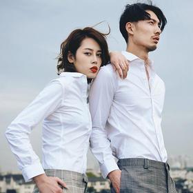 【无法抗拒的白衬衫】风谜情侣款免烫防水防污防皱防静电的白衬衫