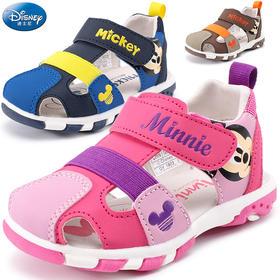 宝宝鞋子软底学步凉鞋1-2-3岁迪士尼夏新男童女童鞋防滑包头凉鞋