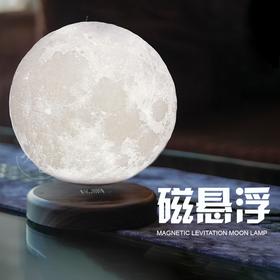 揽月3D打印月球灯个性卧室触控小夜灯浪漫创意礼物磁悬浮月亮灯