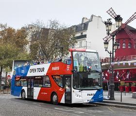 巴黎观光巴士家庭通票:2大人+2小孩-1,2,3日通票