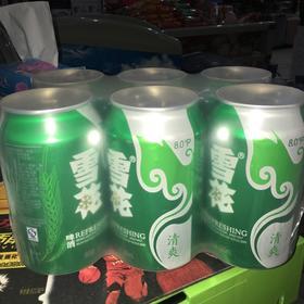 雪花清爽罐装啤酒  330毫升*6罐