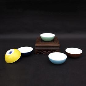 宝瓷林 玉兰杯(明黄、豆青、天青、祭蓝、紫金、玫红)一对