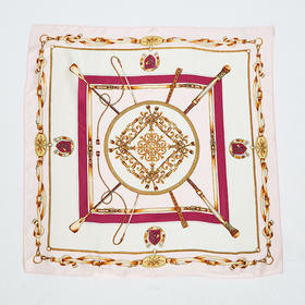 锁链印花丝巾