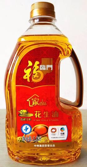 福临门传统土榨花花生油1.8L