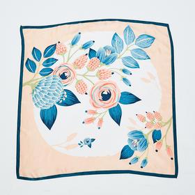花卉印花丝巾