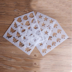 【杏仁瓦片酥模具】椰蓉脆片饼干模 巧克力模西点装饰