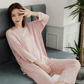 【为思礼】【把云朵穿在身上】 Suevely家居服 春夏秋款 韩版弹力舒适睡衣套装