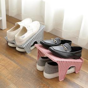 鞋子多必备  家居鞋子收纳神器  简易 多功能 省空间 立体式 双层鞋架  藤编工艺  简约大方 创意鞋架