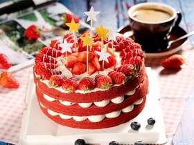 Red velvet cake红丝绒裸蛋糕