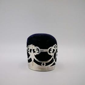 【菲集】艺术品 1918年华丽的英式银制新艺术风格插针垫 工艺品