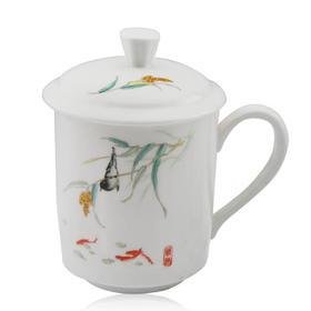 玉风 公仆对杯(山水、水点桃花、情趣、蓝牡丹)