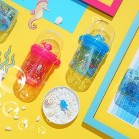 【会喷水的鲸鱼杯 让宝宝爱上喝水】Gogobaby鲸鱼奇趣杯 儿童水杯 吸管杯 防摔幼儿园小学生夏季可爱卡通