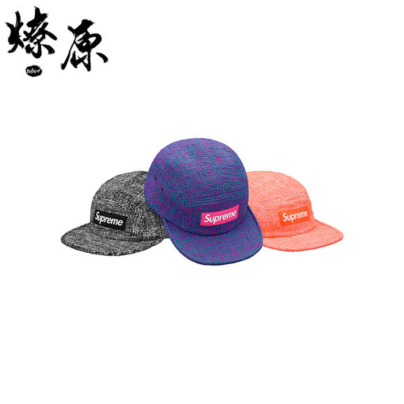 e4b0acc4574 Supreme Boucle Camp Cap Box Logo 18SS 编织露营帽平沿帽