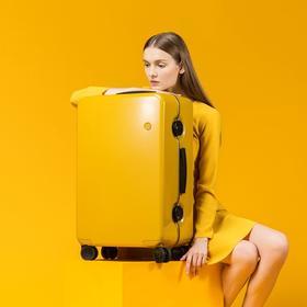 【一场说走就走的旅行】ITO设计师品牌拉杆箱 Ginkgo系列 万向轮PC旅行箱  斜条纹 光面磨砂