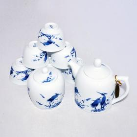玉柏 8头白鹭茶具