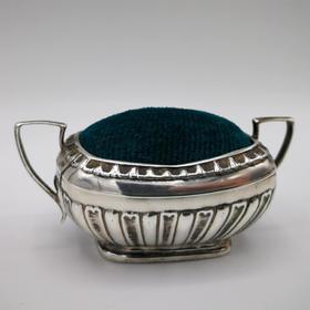 【菲集】1909年 瓮形插针垫 银质针垫 艺术品收藏品工艺品