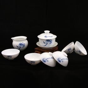 玉柏 8头盖碗茶具荷韵