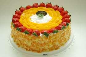 Fresh fruit cake鲜果蛋糕