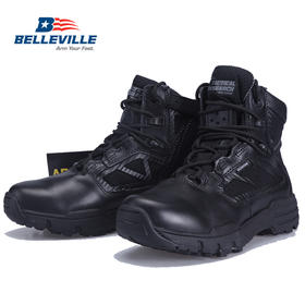 【美国老牌军靴Belleville】 轻型防水侧拉链战术作战靴 TR996Z WP