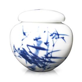 玉柏 茶罐(小圆竹子、枣子报喜鸟)