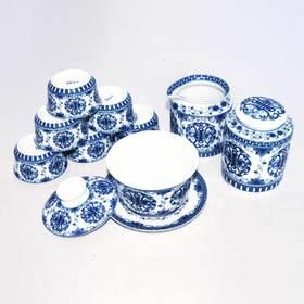 玉柏 9头盖碗福寿茶具