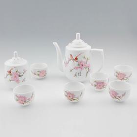 玉风 水点桃花茶具