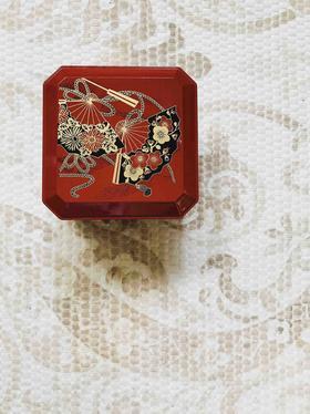 若泉漆器 · 3.8寸隅切重便当盒(扇面)