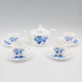 玉风 东方9头茶具 蓝牡丹