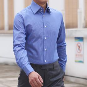 仕族Eabri高唯男士纯棉条纹法式衬衫