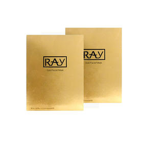 2盒装 | 泰国  RAY 补水保湿 金色蚕丝面膜 10片