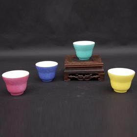 宝瓷林 扒花花卉束腰杯对杯