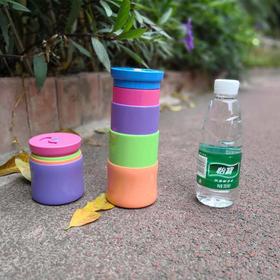 【可以折叠放在口袋里的水杯 】马卡龙MACAROONS魔法变身杯  吸管可以隐藏