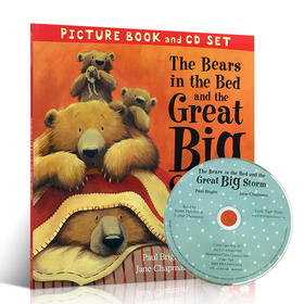 英文原版 The Bears in the Bed and the Great Big Storm 熊爸爸不怕 父亲节亲情附CD 有声书