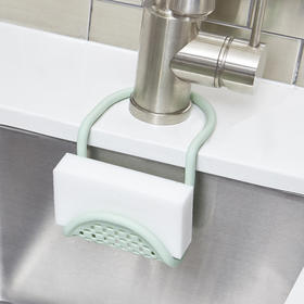 umbra 加拿大厨房水槽锅刷收纳挂篮洗碗海绵置物架水池沥水挂袋架