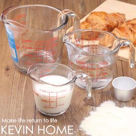 美国原装进口Anchor烘焙工具钢化玻璃刻度量杯计量杯带刻度冲牛奶