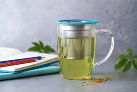 美国FORLIFE茶具 新叶 盐酸玻璃泡茶杯子 带创意不锈钢过滤器