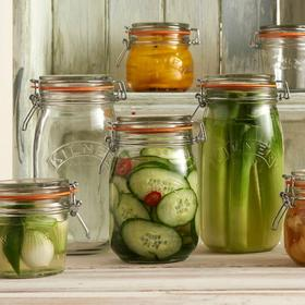 英国进口Kilner 玻璃密封罐带密封圈 泡菜腌制罐保鲜储物罐多规格