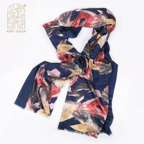 露丝娜·考尔《时.空》秋冬艺术羊毛绒披肩 女士保暖长款百搭羊毛围巾 个性礼品